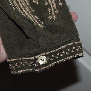 Johnny Was Dresses - Johnny Was Himmel Henley Dress Women Small Silk